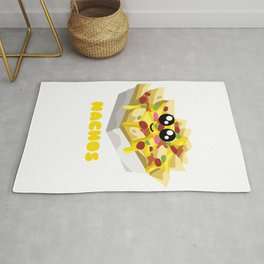 Nachos Are Life Cute Nacho Pun Rug