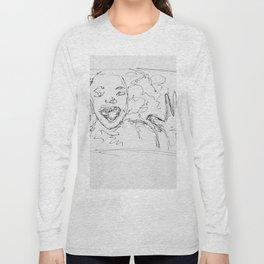 Museum Sketching Long Sleeve T-shirt