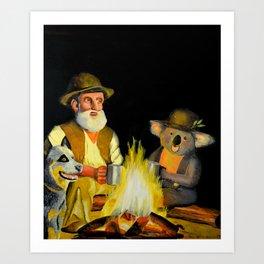 The Swagman and the Koala Art Print