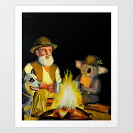 The Swagman and the Koala Art Print
