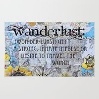 wanderlust Area & Throw Rugs featuring Wanderlust by Jenndalyn