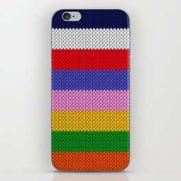 Knitted colorful stripes  iPhone Skin