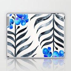 Blooming Orchid – Blue & Black Palette Laptop & iPad Skin