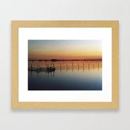 Sunset in Venice Lagoon #2 Framed Art Print