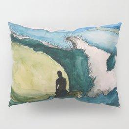 Watercolor Surfer Pillow Sham