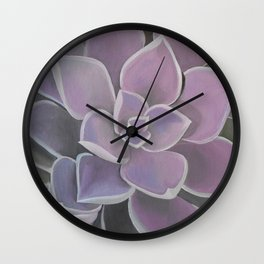 Lavender Succulent Wall Clock
