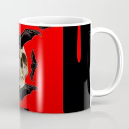 BAT INFESTED HAUNTED SKULL ON BLEEDING HALLOWEEN ART Coffee Mug