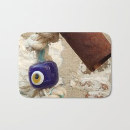 evil eye bead Bath Mat