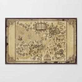 Wizarding World Vintage Map Canvas Print