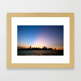 Chicago Skyline Silhouette Framed Art Print