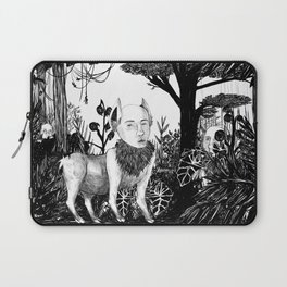 some dudes hanging out in the jungle Laptop Sleeve
