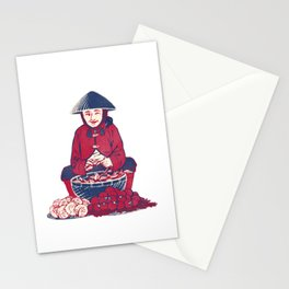 People of Vietnam - Market Lady in Saigon Stationery Cards