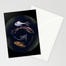 YIN AND YANG- BLACK Stationery Cards