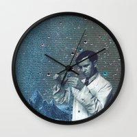 fullmetal alchemist Wall Clocks featuring THE ALCHEMIST by Julia Lillard Art