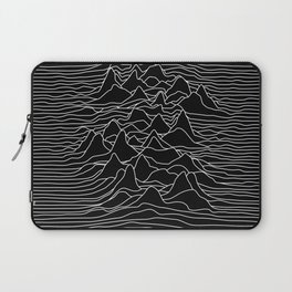 Black and white illustration - sound wave graphic Laptop Sleeve