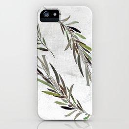 Eucalyptus Leaves White iPhone Case