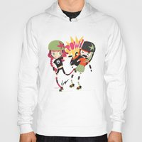 roller derby Hoodies featuring It's Roller Derby, sweetie! by Irene Dose