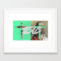 jesus Framed Art Prints featuring JESUS by Jackson Todd