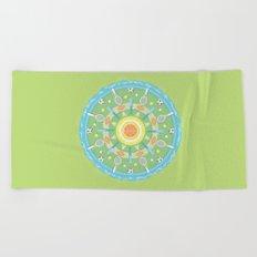 play outdoors mandala Beach Towel