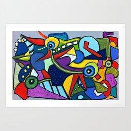 Pterodactyl Smile Art Print
