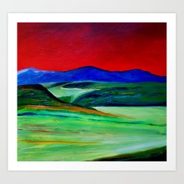 Red landscape 2  Art Print