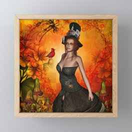 Wonderful fantasy women Framed Mini Art Print