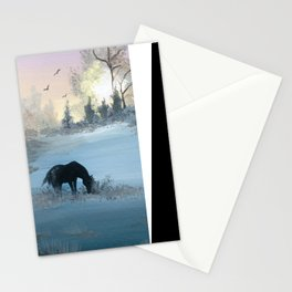 Misty Morning Mustang Stationery Cards