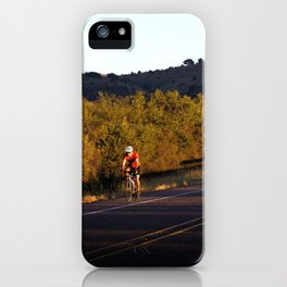 Early Morning Bike Ride iPhone Case