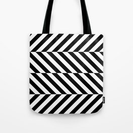 Black and White Op Art Design Tote Bag