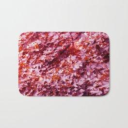 Pink Tree Leaves* Bath Mat