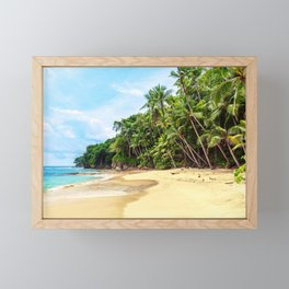 Tropical Beach - Landscape Nature Photography Framed Mini Art Print