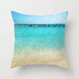Blue Curacao Throw Pillow