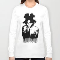 basquiat Long Sleeve T-shirts featuring BASQUIAT DRIP by KING