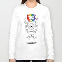 bisexual Long Sleeve T-shirts featuring Gay Pride Lions by mailboxdisco
