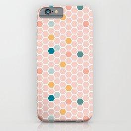 Hexagon Tile Pattern - Pink Pastel iPhone Case
