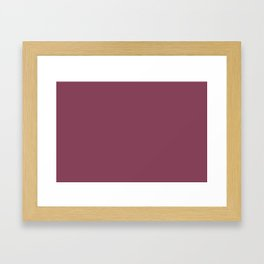Muted Pink Solid Color Pairs To Sherwin Williams 2020 Trending Color Palette Juneberry SW6573 Framed Art Print