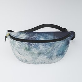 Pink navy, blush sands, ocean abstract Fanny Pack