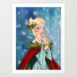 Queen of Ice and Snow Art Print
