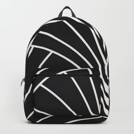 Diamond Series Floral Burst White on Charcoal Backpack