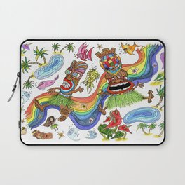 Hawaiian Tiki Play Date Laptop Sleeve