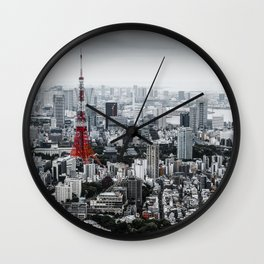 Cinereous City Wall Clock