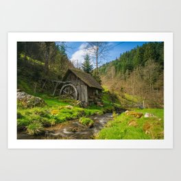 Black Forest Mill Art Print