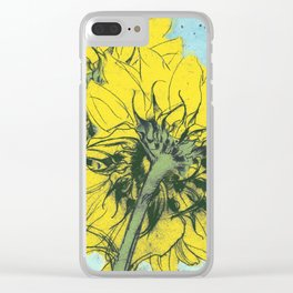 The sunflowers moment Clear iPhone Case