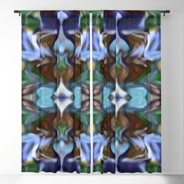 Glass Kaleidoscope Abstract Blackout Curtain