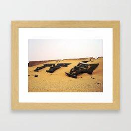 Desert Skeletons Framed Art Print