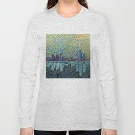detroit city skyline Long Sleeve T-shirt