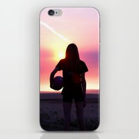 volleyball iPhone & iPod Skins featuring Volleyball Player by americansummers