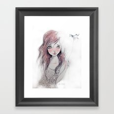 Dorah Pink Framed Art Print