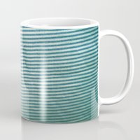 stripe Mugs featuring stripe by erinreidphoto