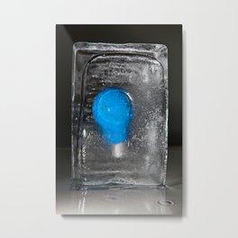 Collezione Lampadine colorate N° 3  l'Azzurro Metal Print